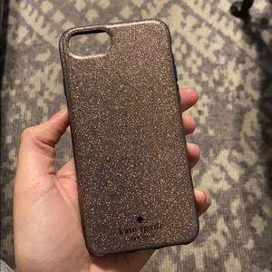 Kate Spade glitter iPhone 6/7/8 case